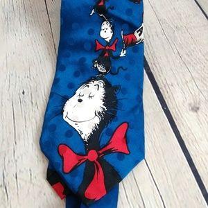 Dr Seuss Cat in The Hat 100% Silk Neck Tie